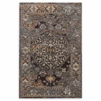 Linon Home Vintage Aristocrat Nain 9' x 12' Area Rug in Blue