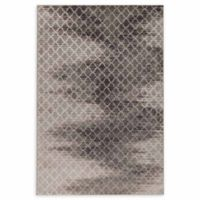 Linon Home Evolution Charisma Trellis 5' x 7'6 Area Rug in Grey