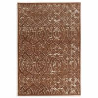Linon Home Hi Lo Plateau Trellis 5' x 8' Area Rug in Brown