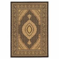 Linon Home Empress Mahi Tabriz 8' x 10' Area Rug in Black