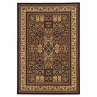 Linon Home Empress Baktiyari 5' x 7'6 Area Rug in Red