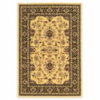 Linon Home Empress Isphahan 5' x 7'6 Area Rug in Cream