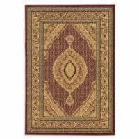 Linon Home Empress Mahi Tabriz 5' x 7'6 Area Rug in Red