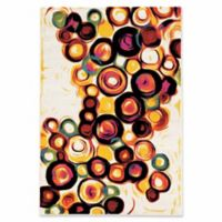 Linon Home Weho Candy 2' x 3' Accent Rug in Ivory