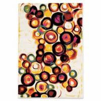 Linon Home Weho Candy 5' x 7'6 Area Rug in Ivory