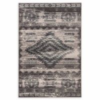 Linon Home Aristocrat Aztek 9' x 12' Area Rug in Grey