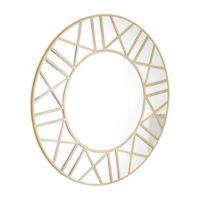 Abbyson Living® Daniela 39.4-Inch Round Wall Mirror in Gold