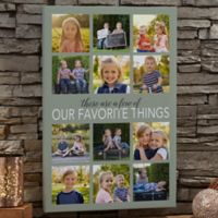 Personalized My Favorite Things 12-Inch x 18-Inch Photo Canvas Print
