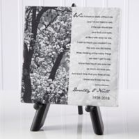 Personalized In Memory 5.5-Inch x 5.5-Inch Table Canvas Print
