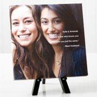 Personalized Photo Sentiments Friends 8-Inch x 8-Inch Canvas