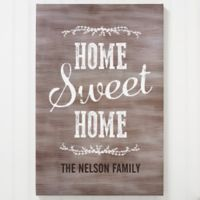 Personalized Home Sweet Home 12-Inch x 18-Inch Canvas Print
