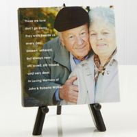 Personalized Memorial Photo Sentiments 5.5-Inch x 5.5-Inch Canvas