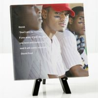 Personalized As You Leave Photo Sentiments 8-Inch x 8-Inch Canvas Print