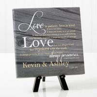 Personalized Love Is Patient 8-Inch x 8-Inch Canvas Print
