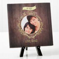 Personalized Dear Mom Photo 8-Inch x 8-Inch Canvas Print