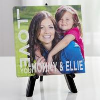 Personalized Loving Her 5.5-Inch x 5.5-Inch Canvas Print
