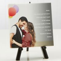 Personalized Photo Sentiments Couples 5.5-Inch x 5.5-Inch Canvas