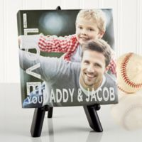 Personalized Loving Him 5.5-Inch x 5.5-Inch Canvas Print