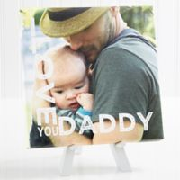 Personalized Loving Him 8-Inch x 8-Inch Tabletop Canvas Print