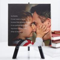 Personalized Photo Sentiments For Him 5.5-Inch x 5.5-Inch Canvas