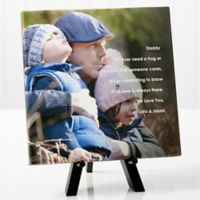 Personalized Photo Sentiments For Him 8-Inch x 8-Inch Canvas Print
