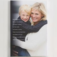 Personalized Photo Sentiments For Her 16-Inch x 20-Inch Canvas