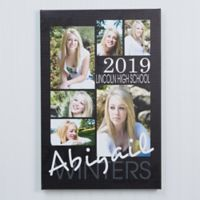Personalized Graduation Portrait Collage 12-Inch x 18-Inch Canvas
