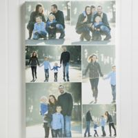 Personalized 6 Photo Collage 16-Inch x 24-Inch Canvas
