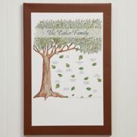 Personalized Family Tree 12-Inch x 18-Inch Canvas