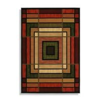 Ambience Terracotta 5-Foot 3-Inch x 7-Foot 6-Inch Room-size Area Rug