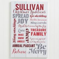 Personalized Holiday Family Traditions 20-Inch x 30-Inch Canvas