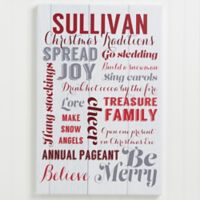 Personalized Holiday Family Traditions 12-Inch x 18-Inch Canvas