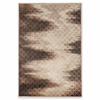 Linon Home Charisma Damask 2' x 3' Accent Rug in Brown