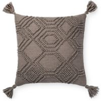 Magnolia Home Eleanor Square Throw Pillow in Grey