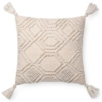 Magnolia Home Eleanor Square Throw Pillow in Ivory