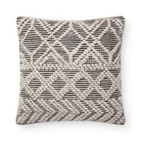 Magnolia Home Imogene Square Throw Pillow in Ivory/Black