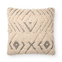 Magnolia Home Cynthia Square Throw Pillow in Natural/Black
