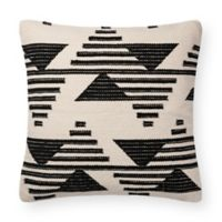 Magnolia Home Trice Square Throw Pillow in Black/White
