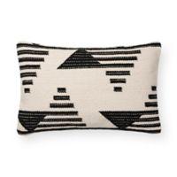 Magnolia Home Trice Square Throw Pillow in Black/White