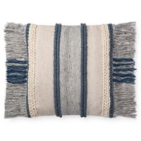 Magnolia Home Bishop Square Throw Pillow in Blue