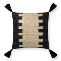 Magnolia Home Edward Square Throw Pillow in Black/Ivory