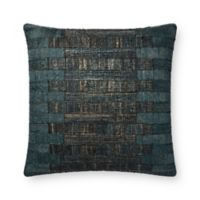 Magnolia Home Tomas Square Throw Pillow in Teal