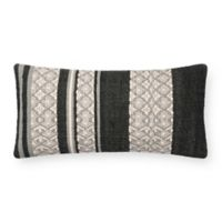 Magnolia Home by Joanna Gaines Sara Oblong Throw Pillow in Black/Beige