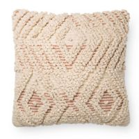 Magnolia Home by Joanna Gaines Cynthia Square Throw Pillow in Natural/Blush