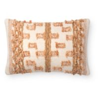 Magnolia Home by Joanna Gaines Margaret Oblong Throw Pillow in Beige/Rust