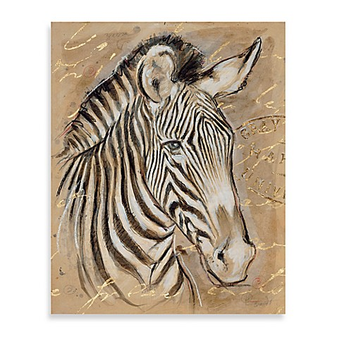 Safari Zebra Printed Canvas Wall Art