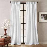 Peri Memphis 84-Inch Pinch Pleat Light-Filtering Window Curtain Panel in White