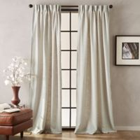 Peri Memphis 84-Inch Pinch Pleat Light-Filtering Window Curtain Panel in Natural