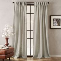 Peri Memphis 84-Inch Pinch Pleat Light-Filtering Window Curtain Panel in Linen
