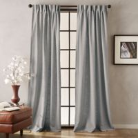 Peri Memphis 63-Inch Pinch Pleat Room Light-Filtering Curtain Panel in Grey